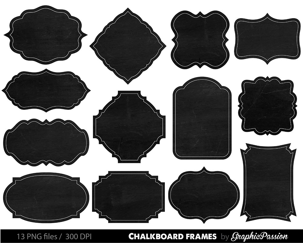 Free border cliparts download. Chalkboard clipart frame
