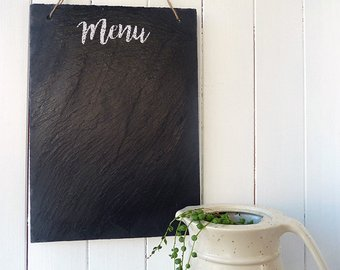 Chalkboard menu etsy slate. Blackboard clipart message board