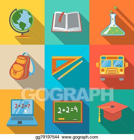 Vector stock school education. Blackboard clipart modern