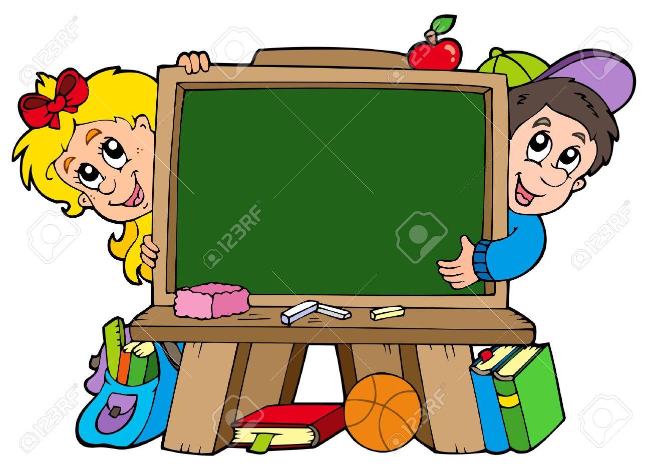 collection of kids. Blackboard clipart nursery school