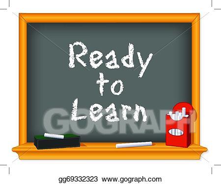 Eps illustration chalk board. Blackboard clipart nursery school