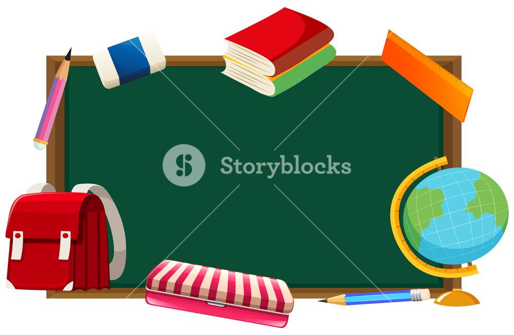 Blackboard clipart school blackboard. And other objects royalty