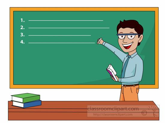 Blackboard clipart school blackboard. University lecturer writing on
