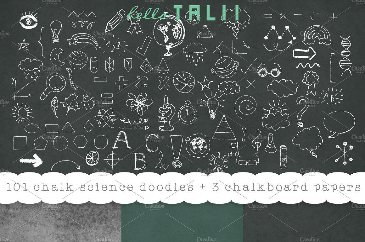 Blackboard clipart science.  back to school