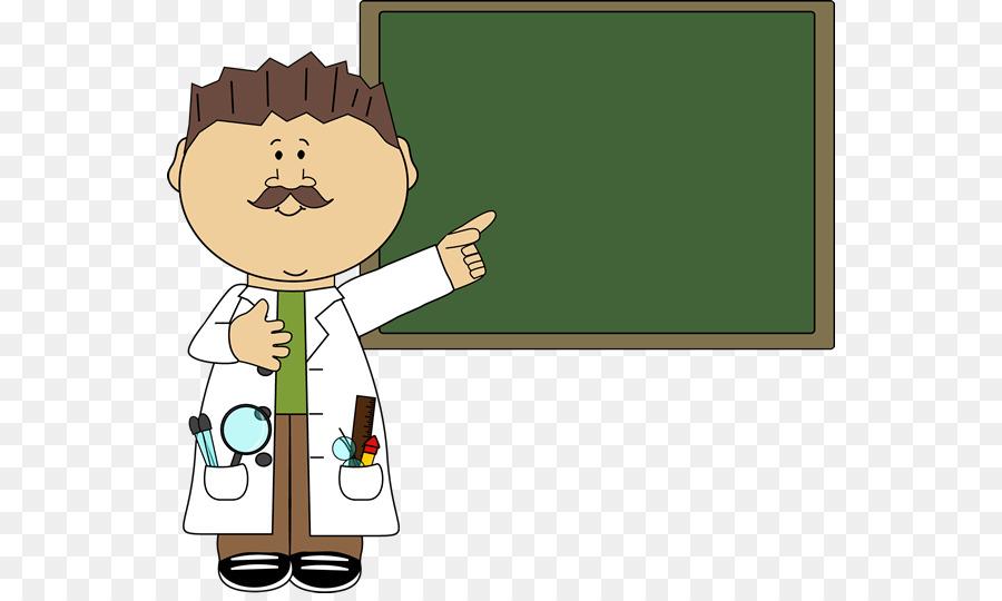 Blackboard scientist clip art. Clipart science teacher