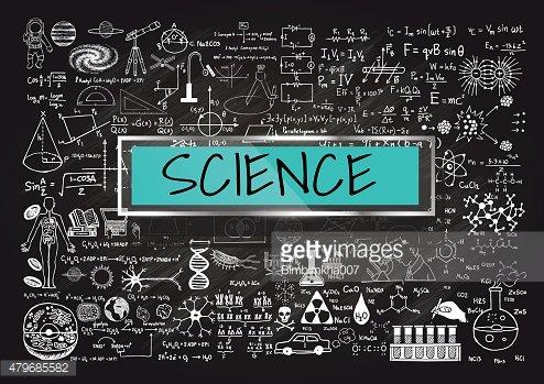 On chalkboard premium clipartlogo. Blackboard clipart science