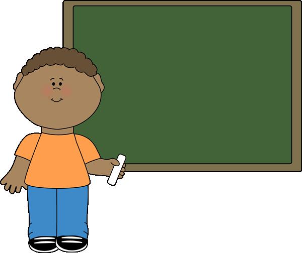 Cute pencil and in. Blackboard clipart student