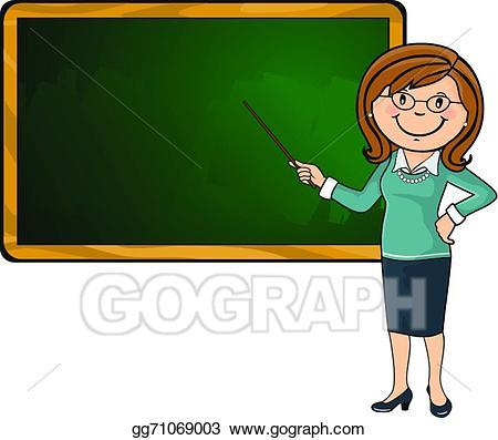 Vector stock and blackboard. Chalkboard clipart teacher