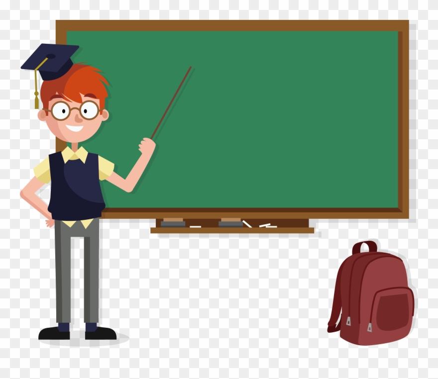 Blackboard clipart teacher. Transparent school image