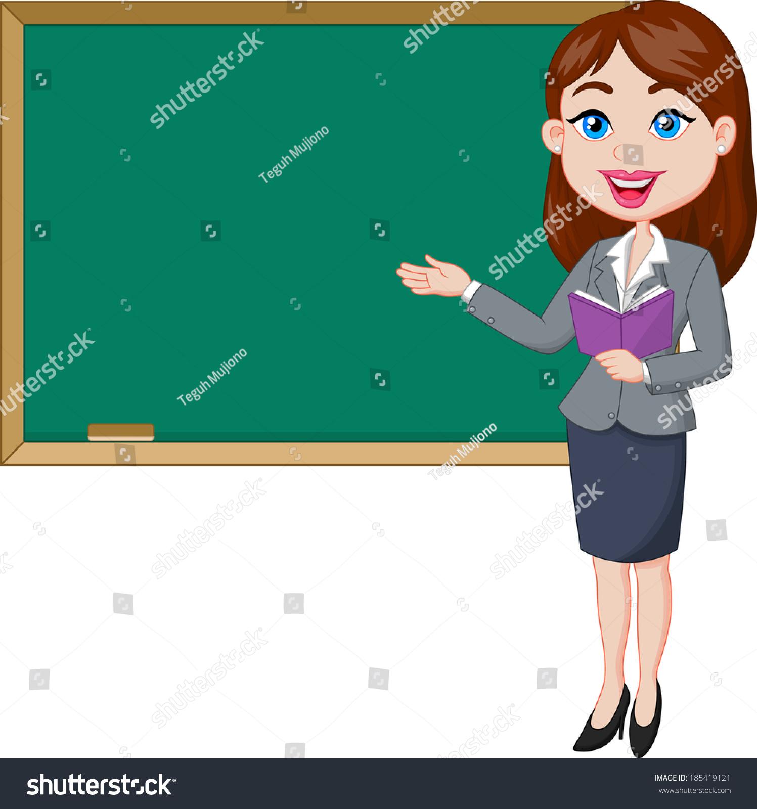 Station . Blackboard clipart teacher