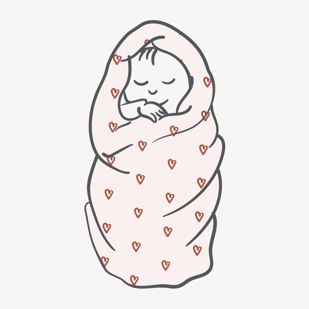 Grey stripe tabasco heart. Blanket clipart baby blanket