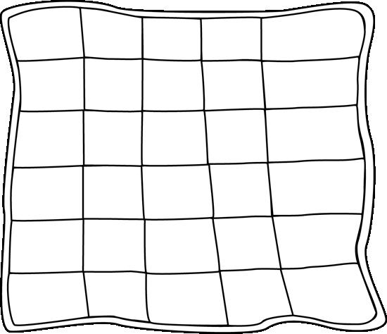 Quilt clipart line art. Black and white clip
