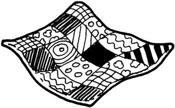 Quilting clipart blanket. Black and white station