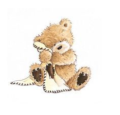 Blanket clipart blankie. Teddy with his ted