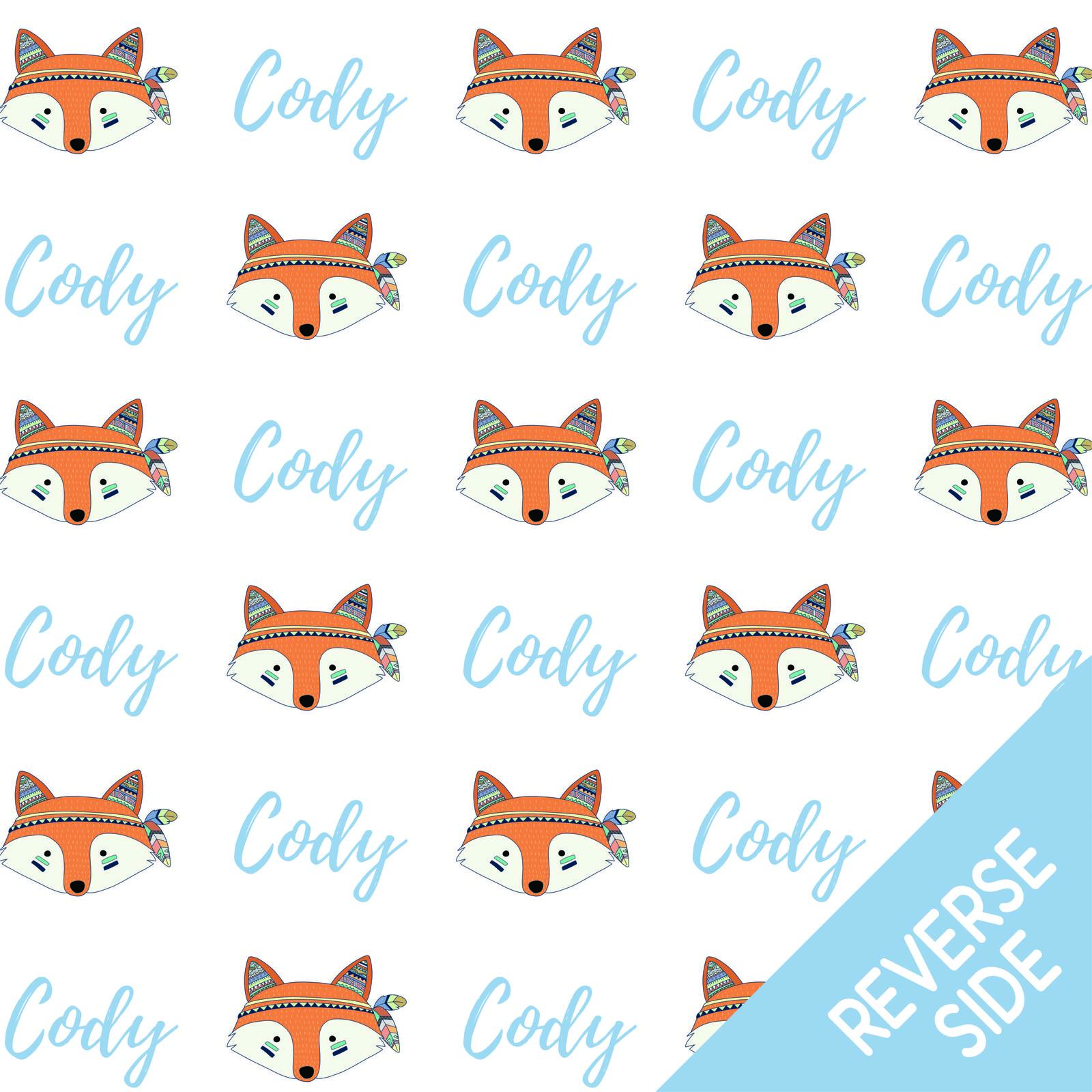 Blanket clipart blankie. Oh so foxy personalised