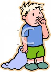 A toddler boy holding. Blanket clipart blankie