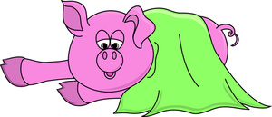 Free hog clip art. Blanket clipart cartoon