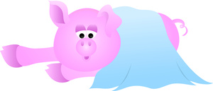 Free pig clip art. Blanket clipart cartoon