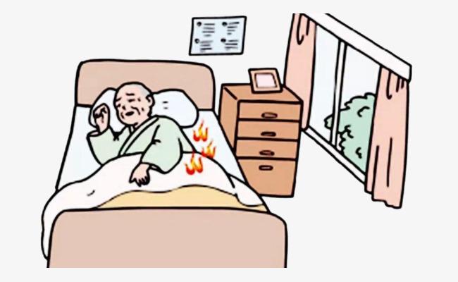 Electric heating comics equipment. Blanket clipart cartoon