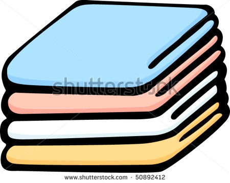 Pencil and in color. Blanket clipart cartoon