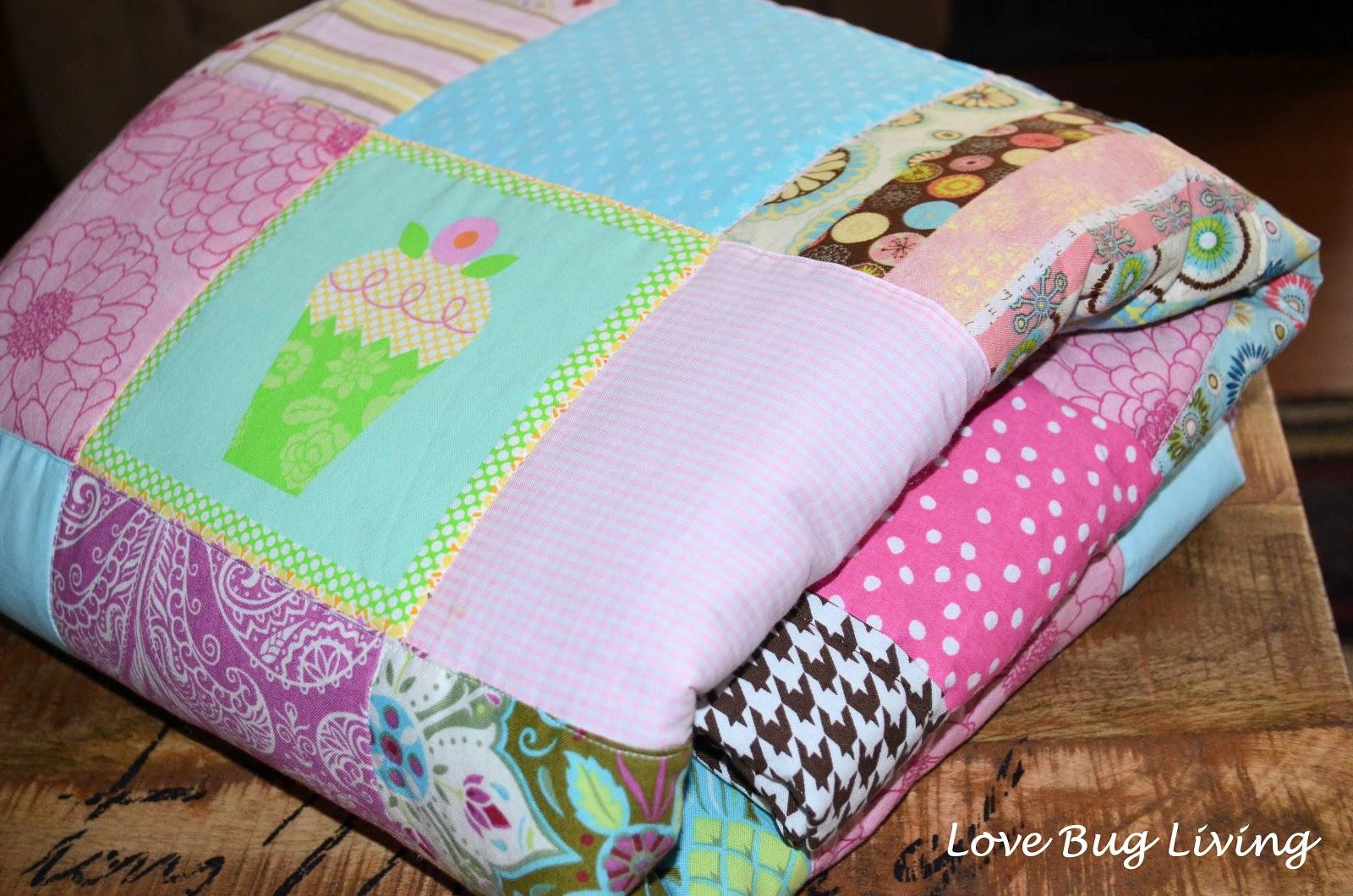 Blanket clipart folded quilt. Love bug living simple