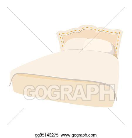 Stock illustration luxury double. Blanket clipart icon