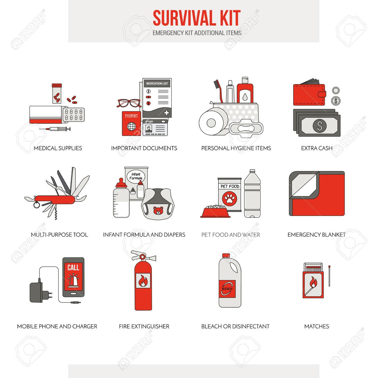 Blanket clipart icon. Emergency hygiene kit pencil