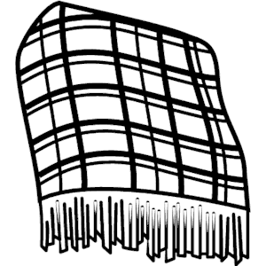 Pencil and in color. Blanket clipart outline