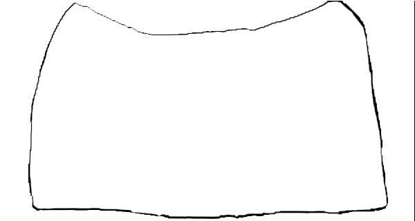 Saddle design form . Blanket clipart outline