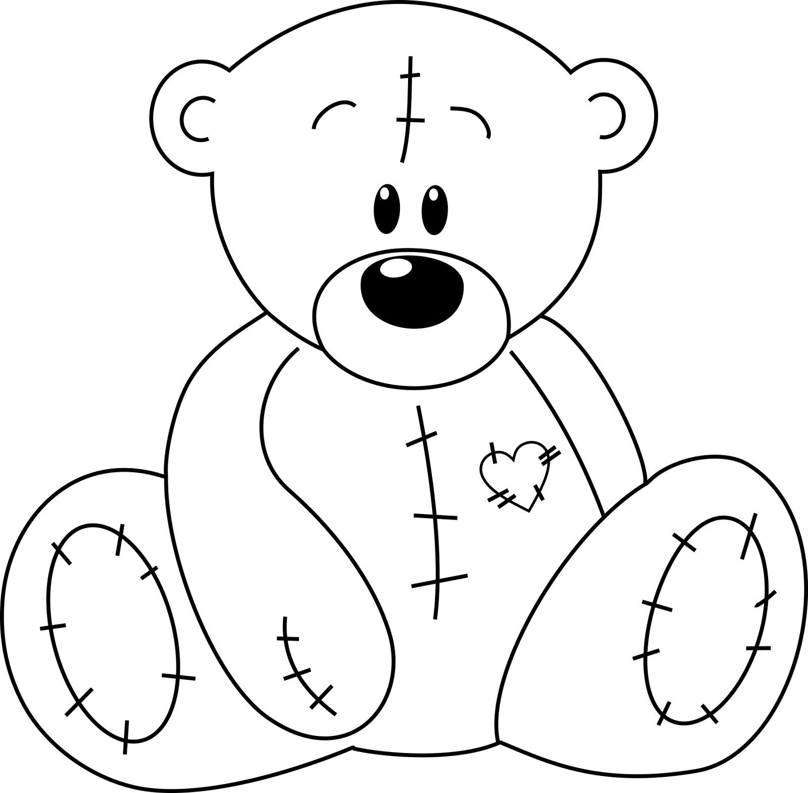 Blanket clipart outline. Bear with heart perfect