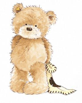 Blanket clipart plush. Popcorn the bear with