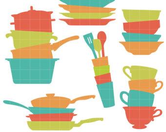Teacup stack etsy kitchen. Blanket clipart stacks