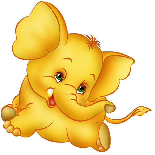 Funny baby elephant clip. Stamp clipart animated