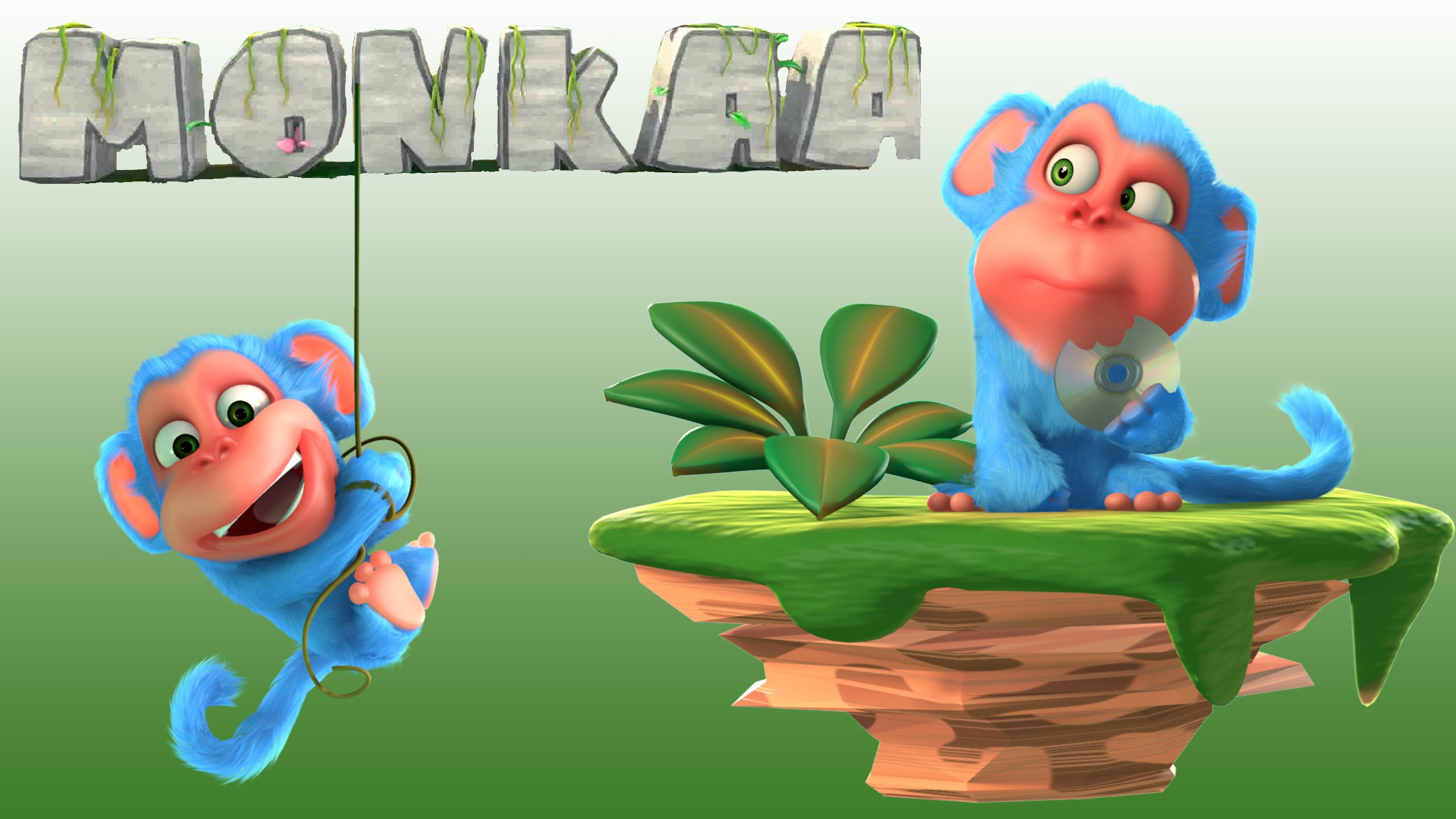 Short animation movie monkaa. Blender clipart animated