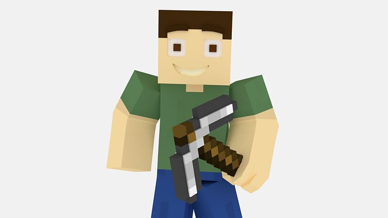 Blender clipart animated. Minecraft character survival animation