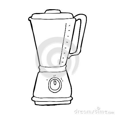 Blender Clipart Black And White