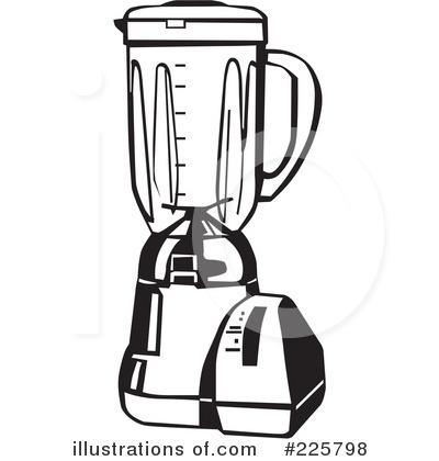 Blender clipart black and white. Illustration by david rey