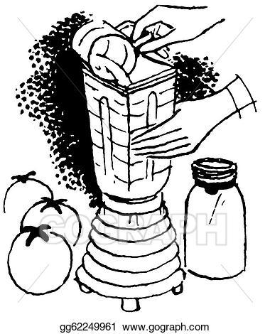 Stock illustration a version. Blender clipart black and white