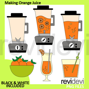Making orange juice clip. Blender clipart blend
