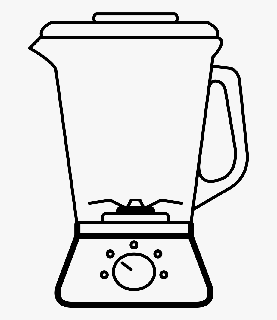 Blender clipart coloring page. And fruit juice