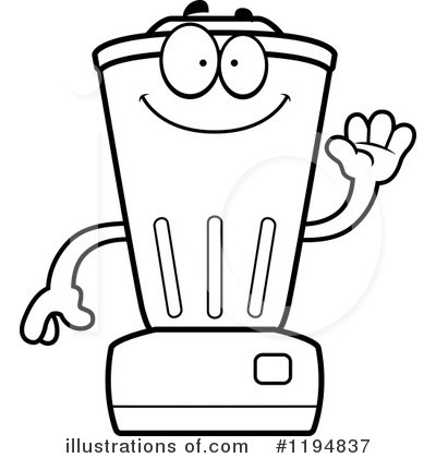 Illustration by cory thoman. Blender clipart coloring page
