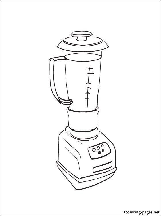 Blender clipart coloring page. Book with a for