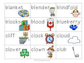 Blender clipart consonant blend. Kindergarten smarts bl cl