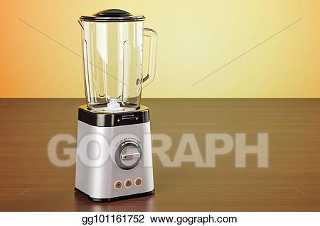 Blender clipart electric blender. Drawing on the wooden