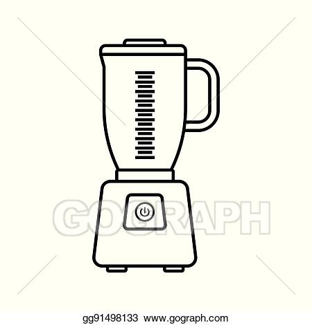 Eps illustration icon on. Blender clipart electrical device