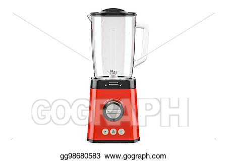 Blender clipart electrical device. Stock illustration red electric