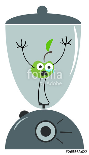 Blender clipart emoji. A with green apple