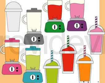 Smoothie etsy and commercial. Blender clipart fruit shake