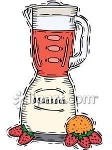 Blender clipart fruit shake. A full with beside