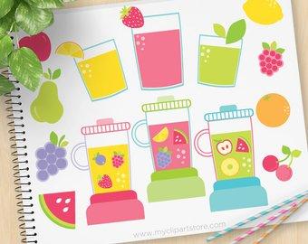 Smoothie etsy juicy smoothies. Blender clipart fruit shake